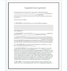 Lease Contract Sample Equipment Lease Contract Sample Form 409212600246 Equipment
