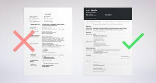 How To Choose The Best Resume Layout Templates Examples Resumes Bad