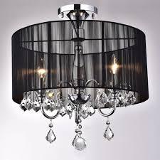 full size of lighting fascinating chandelier flush mount 11 gorgeous crystal 27 black 20and 20chrome 20semi