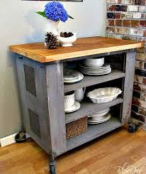 diy kitchen island cart. Industrial Cart Diy Kitchen Island