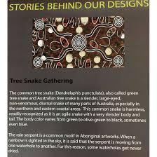 tree snake gathering brown australian aboriginal art fabric by anonymous by m s textiles australian