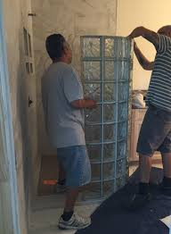 protect all vinyl stacking system for glass block showers make it as easy as stacking lego