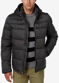 men s classic hooded puffer jacket tommy hilfiger