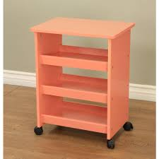 Homecraft Furniture 4 Wheeled Rolling Storage Table In Orange Rt21