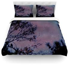robin inson twilight purple tree cotton duvet cover twin 68 x88