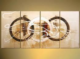 abstract circle canvas wall art