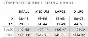 Compreflex Sizing Chart Sigvaris Compreknee Soft Knee Compression Closed Patella