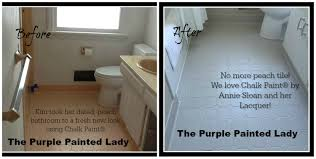 Type of paint for bathrooms Paint Colors The Purple Painted Lady Kim Gray Before After Chalk Paint Annie Sloan Thelazyinfo Painting Tile In The Bathroom With Chalk Paint The Purple Painted