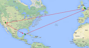 vegas & cancun all inc, 8nts fr £1,295 Map Of Usa And Cancun Mexico las vegas and cancun map of us and cancun mexico