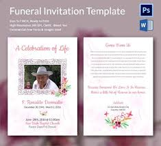 Funeral Invitation Template Cool Funeral Invitation Card On Awesome Templates Template Fifacoinsbuyus