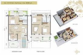 55 2550 house plan 3d east facing