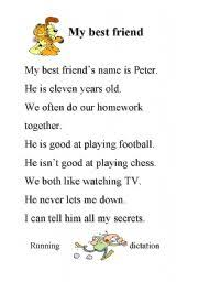 my best friend worksheet by michael schnetzer english worksheet my best friend