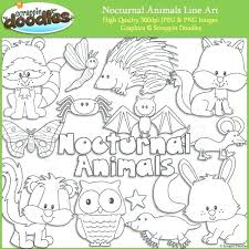 nocturnal animals coloring pages.  Coloring Nocturnal Animals Coloring Pages Line Art Free With Nocturnal Animals Coloring Pages N