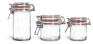 clear glass jars clear glass wire bale jars w hinged lids