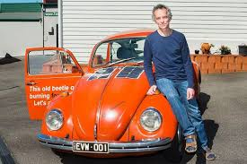 man and beetle