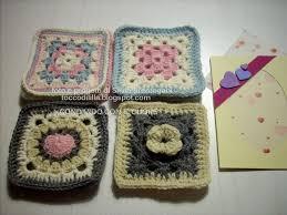 Tocco di lilla: granny square piastrelle condivise con il