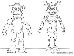 Destiny Foxy Coloring Pages Fnaf Page Funtime Five Nights At Freddy