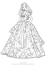Barbie in abito da sposa. Disegno Di Barbie Birthday Da Stampare E Colorare Barbie Disegni Disegni Da Colorare