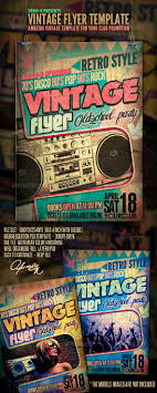 vintage flyer template by yaniv k graphicriver vintage flyer template clubs parties events