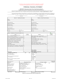 Printable Personal Financial Statement Form Best Photos Of Blank Business Financial Statement Template 8