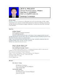 Medical Technologist Job Description Sarahepps Com