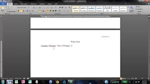How To Make It Mla Format On Word How To Make An Mla Works Cited Page In Word