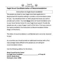 eagle scout candidate letter of recommendation printable recommendation letter for services provided to submit