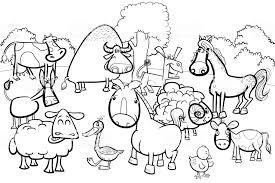 漫画ファームの動物キャラクターの塗り絵 たてがみのベクターアート
