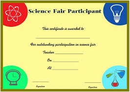 science fair headings printable science fair participation certificate 11 free editable awards in
