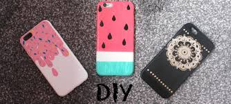 diy colourful and easy summer phone case designs watermelon ice cream henna design