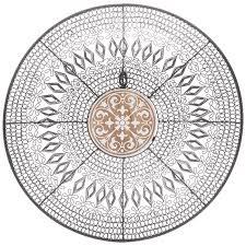 circle medallion metal wall decor