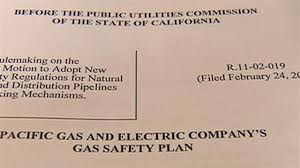 Safety Plans Impressive PGE Plan For Pipe Safety