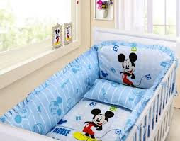 Mickey Mouse Crib Bedding Set Sets With Bumper Black And White