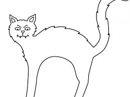 Small Picture Halloween Cat Coloring Page Coloring Page for Kids