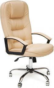 <b>Кресло Tetchair СН9944</b> (<b>Хром</b>, Кож/Зам, Бежевый) купить в ...
