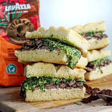 At williams sonoma see it related products. Lavazza Coffee Rubbed Steak Pesto And Cream Cheese Sandwiches Billy And Jack
