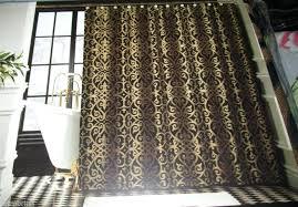 black gold curtains shower curtain black gold damask x elegant black and gold striped curtains uk