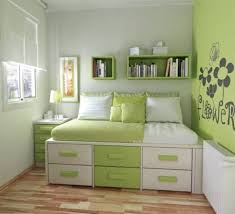 Small Green Bedroom Bedroom Wonderful Green Brown White Wood Uniqe Design Small