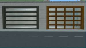 modern glass garage doors. Both Have Two Recolor Subsets, The Garage Door And Glass Are Found In Build Mode Under At Cost Of §1000 Each Modern Doors N