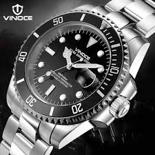 aliexpress com buy vinoce 200m sports divers watch fashion steel vinoce 200m sports divers watch fashion steel belt men watch waterproof watch quartz watch oyster mens