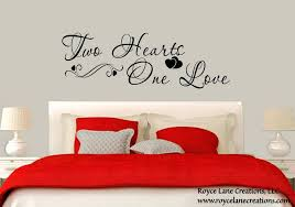 bedroom wall quotes as well as bedroom wall decal two hearts one love bedroom decal bedroom bedroom wall quotes