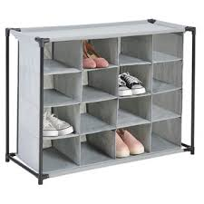 Home Basics 10 Tier Coated Non Woven Shoe Rack Free Standing Shoe Rack Wayfair 86