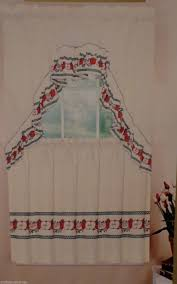 Red Swag Kitchen Curtains Country Red Delicious Apples Apples 36l Tiers Swag Set Kitchen