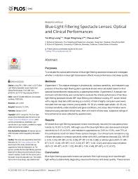 Blue Light Filter Open Source Pdf Blue Light Filtering Spectacle Lenses Optical And