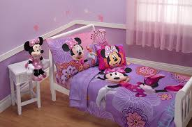 disney 4 piece minnie s fluttery friends toddler bedding set lavender