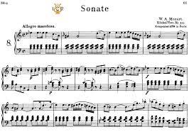 mozart piano sonata sheet music piano sonata no 8 k 310 in a minor w a mozart breitkopf urtext