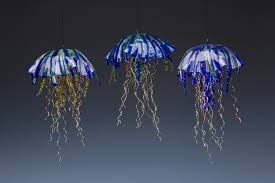 recycled glass jellyfish