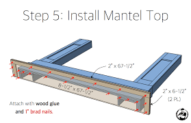diy faux fireplace mantel surround plans step 5