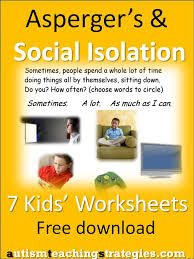 seven illustrated worksheets to help children with Asperger's and ...