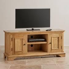 Large Tv Cabinets Edinburgh Tv Cabinet In Natural Solid Oak Oak Furniture Land